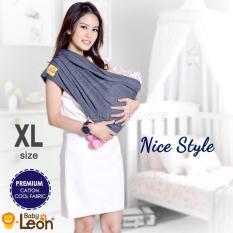 Premium Gendongan Kaos Baby Leon Cotton/Geos/Selendang Katun/Slendang Bayi BY 46 GB Ukuran XL - Navy
