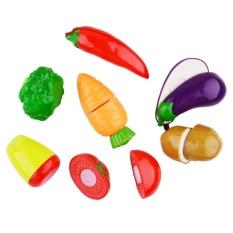Berpura-pura Mainan Makanan untuk Bermain Anak-20 Pcs Plastik Cutting Food Set With Keranjang And Peralatan Masak-Intl