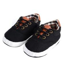 Jual Prewalker Sepatu Newborn Baby Leisure Lacing Kanvas Sepatu Lembut Sole Sepatu Online Di Tiongkok