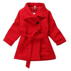 Promo Putri Gadis Winter Fleece Trench Coat Baby Outwear Jaket Windbreaker 2 7Y Murah