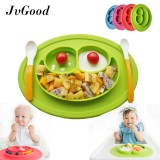 Promotion Jvgood Baby Silicone Placemat Plate Tray For Infants Toddlers And Kids Food Mats One Piece Happy Mat Suction Fits To Most Tables Highchair Non Slip Baby Feeding Fda Approved Green Intl Diskon Akhir Tahun