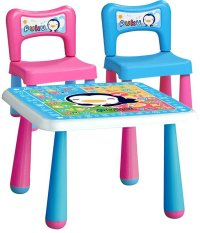 Puku Petit Children Table & Chair - Warna Warni
