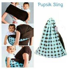 Pupsik Studio Baby Pouch Carrier Blue Gendongan Instant Modern Original