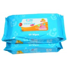 Pure Baby Cleansing Wipes Lemon 60's Buy 1 Get 1 Free