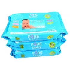 Pure Baby Hand Mouth Wipes 60 S Aloe Vera Buy 2 Get 3 Pure Baby Diskon 30