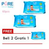 Jual Pure Baby Hand And Mouth Wipes Aloe Vera Isi 60 Pcs Beli 2 Gratis 1 Termurah