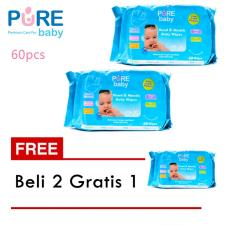 Tips Beli Pure Baby Hand And Mouth Wipes Aloe Vera Isi 60 Pcs Beli 2 Gratis 1 Yang Bagus