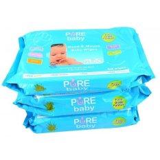 Pure Baby Hand Mouth Wipes 60 S Aloe Vera Pure Baby Murah Di Dki Jakarta