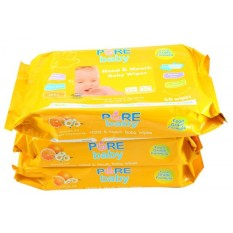 Spesifikasi Pure Baby Hand Mouth Wipes 60 S Orange Oil Buy Beserta Harganya