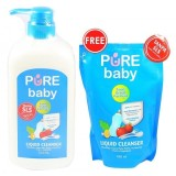 Harga Pure Baby Liquid Cleanser Pump 700Ml Free Refill 450Ml New