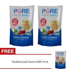 Purebaby Liquid Cleanser Refill 700 Ml Buy 2 Get 1 Terbaru