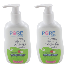 Harga Purebaby Wash 2 In 1 230 Ml 2 Packs Baru Murah