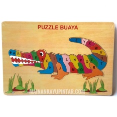 Mainan Kayu Pintar Puzzle Kayu Buaya Angka