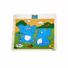 Puzzle Kayu Animal Mainan Edukasi Bongkar Pasang - Gajah