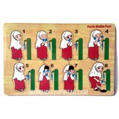 Mainan Kayu Pintar Puzzle Kayu Wudhu Putri