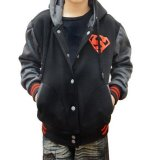Model Quincylabel Super Varsity Kids Jacket Dark Grey Terbaru