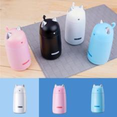 Pelangi Site 2017 Terbaru Kualitas Tinggi Kawaii Leak-Tahan Anti Karat Insulated Wadah Mini Termos Vakum Cangkir Drink ware Botol Air Kartun Kucing Ketahanan Suhu Mug-Putih--Internasional