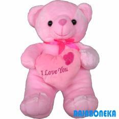 Raja Boneka Boneka Beruang Teddy Bear Love - Pink 5ab6777301