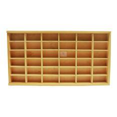Rak Display Hotwheels isi 36 - Kotak Hotwheels - Rak Diecast Kayu Hotwheels - Wooden Display Case - Cream