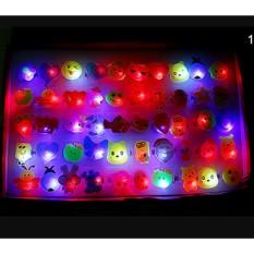 Veli Shy Random Kids Toy Led Led Flashing Light Ring Berkedip Pesta-Intl By Veli Shy