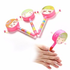 Rattle Drum Smile Baby Kid Percussion Educational Musical Instrument Toy - intl