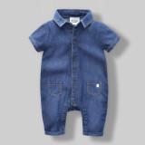 Review Terbaik Ratus Denim Bayi Tipis Pakaian Romper Siam Pakaian