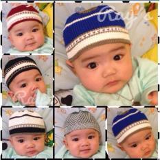 Rays - Set Isi 3 Peci Songkok Bayi Anak Balita Soleh Topi Rajut Islam Muslim Warna Kombinasi