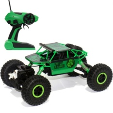 Remote Control Car 4WD Rock Crawler Super Hero Theme Car Off-Road - HIJAU