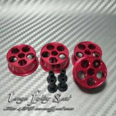 Rep Tamiya 94710 Hg Aluminium Wheel / Velg Alu 5 M Red (Va5m04) -