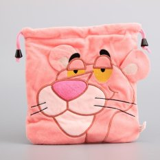 Retail 1 Piece Pink Panther Plush Bag Cute Kartu Tas Pengaman Bag KIDS Tas Multifungsi 20*21 CM -Intl