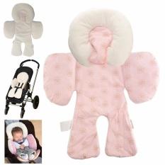 Reversible Baby Body Support Kepatuhan untuk Digunakan Di Jok Mobil StrollerBody Dukungan Bantal Bantal Kepala Bayi Stroller Aksesoris Pink- INTL