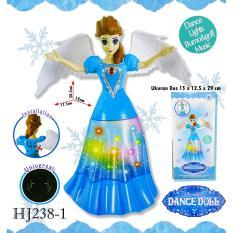 RKJ Mainan Anak Perempuan Baterai Dance Doll Bisa Mutar 360° HJ238-1 + FREE BATERAI A2