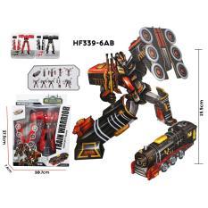 RKJ Mainan Anak Robot Transform Train Warrior HF339-6AB - Warna Random