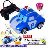Robocar Poli Car Radio Control Robot Rc Mainan Mobil Robot Remote Control Karakter Poli Free 2 Baterai Promo Beli 1 Gratis 1