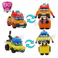 Promo Robocar Poli Set 2 In 1 Transformable Mainan Mobil Robot Berubah Mark Dan Bucky Murah