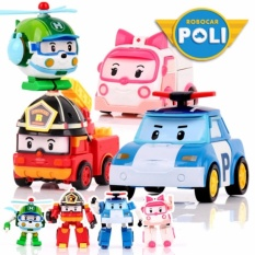 Robot Mobil Robo Car Transformasi Complete Set (4-in-1) - Mainan
