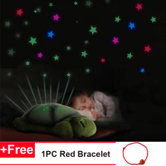 Baby Sleep Light Sky Star Lampu Novelty Mainan Anak-anak Lagu Musik Pencahayaan Penyu Musik LED Night Light Gift -Intl