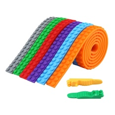 rooroom Building Blocks Tape, 6 Rolls Adhesive Block Tape Compatible with Construction Toys and Building Blocks + 2 Blocks Key - intl