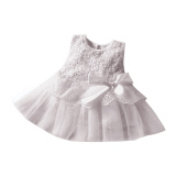 Toko Rorychen Bayi Anak Polos Gadis Without Lengan Gaun Bermotif Bunga Bunga Abu Abu Online Terpercaya