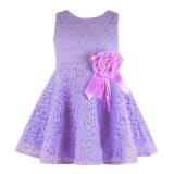 Promo Rorychen Bayi Anak Perempuan Without Lengan Gaun Renda Bunga Ungu Murah