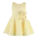 Beli Rorychen Bayi Anak Perempuan Without Lengan Gaun Renda Bunga Krem Dengan Kartu Kredit