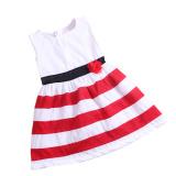 Harga Rorychen Floral Bayi Gadis Tanpa Lengan Strip Dress Untuk Musim Panas Murah