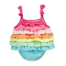 Rorychen Orok Bayi Perempuan Pelangi Lapis Baju Monyet Simpul Kawat Gigi Kain