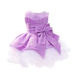 Rorychen Anak Without Lengan Kostum Pengiring Pengantin Gaun Renda Ungu Terbaru