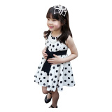Kualitas Rorychen Gaya Korea Baby Kids G*rl Polka Dot Dress Untuk Musim Panas Putih Rorychen