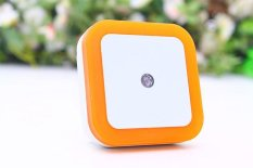 Promo Toko Rorychen Led Night Light Sensor Lampu Square Halo Night Light Plug Lampu Hemat Energi Night Light Orange Intl
