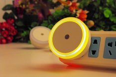 Penawaran Istimewa Rorychen Led Night Light Sensor Lampu Square Halo Night Light Plug Lampu Hemat Energi Night Light Orange Intl Terbaru