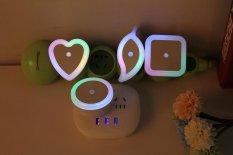 Toko Rorychen Led Night Light Sensor Lampu Square Halo Night Light Plug Hemat Energi Light Night Light Round Intl Online Terpercaya