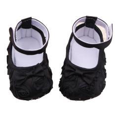 Beli Rose Bunga Cute Bayi Yang Baru Lahir Baby G*rl Pertama Berjalan Sepatu Hitam 11 Cm Pakai Kartu Kredit