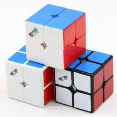 Rubik 2x2 Qiyi Cavs 2x2 Speed Cube Black White Stickerless